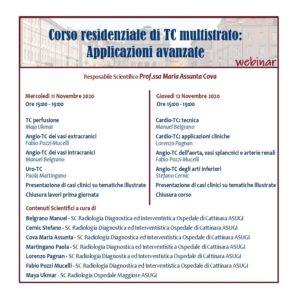 CORSO RESIDENZIALE DI TC MULTISTRATO: APPLICAZIONI AVANZATE