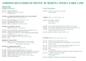 1a Edizione delle Giornate Pontine di Medicina Interna FADOI Lazio